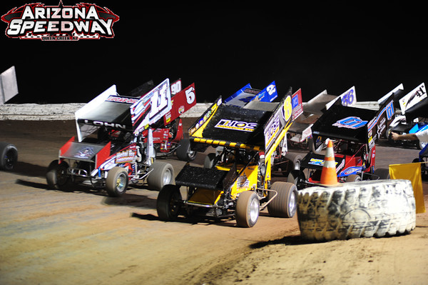 WING SPRINT CAR START
